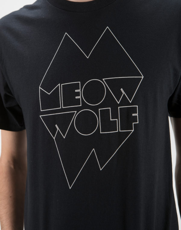 Meow Wolf Black and White Logo Shirt