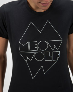 Meow Wolf Black and White Logo Shirt (Fitted)