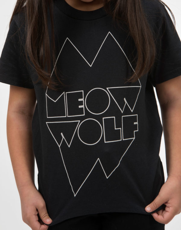 Meow Wolf Black and White Logo Youth Shirt