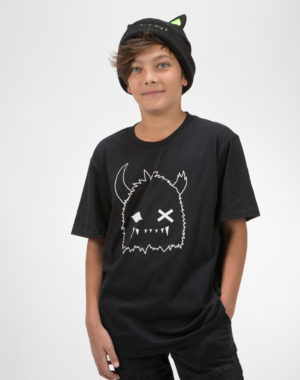 Snaggy Black and White Youth Shirt
