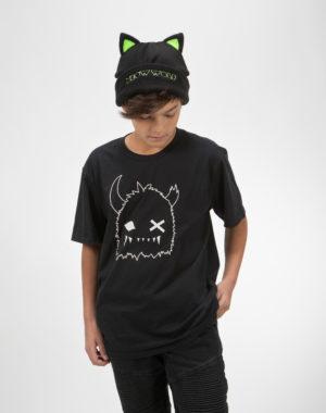 Black Cat Fleece Hat