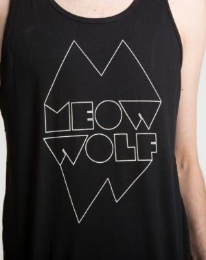 Meow Wolf Black and White Logo Tank Top