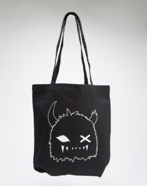 Black and White Snaggy Tote Bag