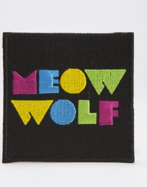 Meow Wolf Logo Black Square Patch