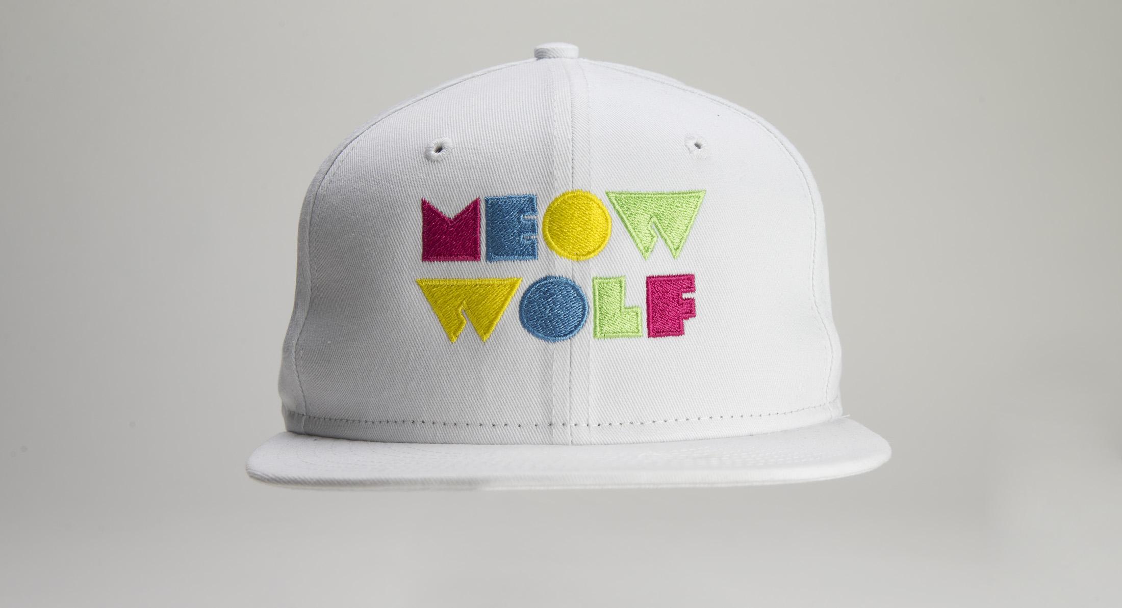 9144bce5d3f Meow Wolf Logo White 6-Panel Snapback Hat