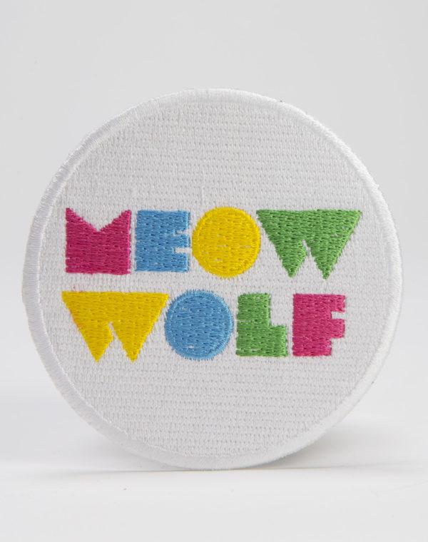 Meow Wolf Logo White Circle Patch