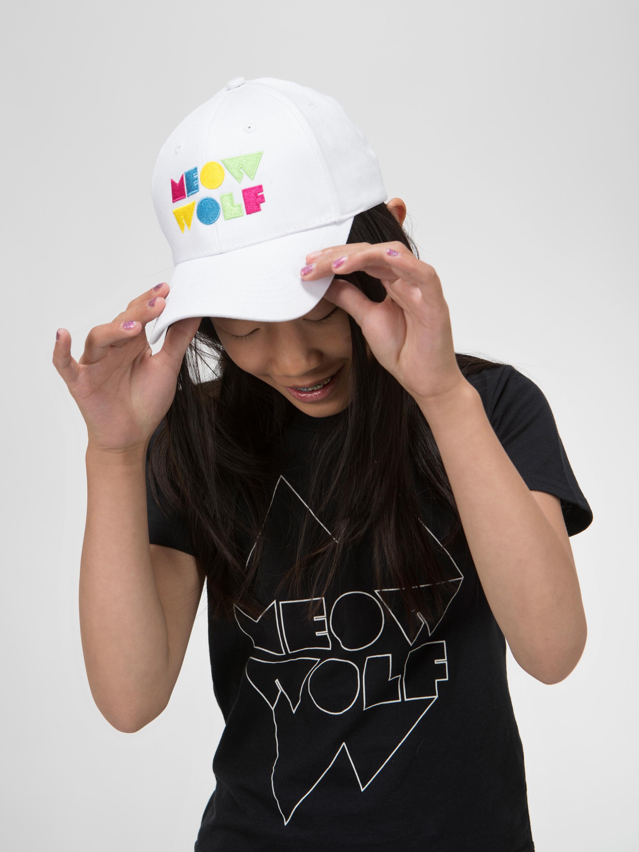 Meow Wolf White Baseball Hat