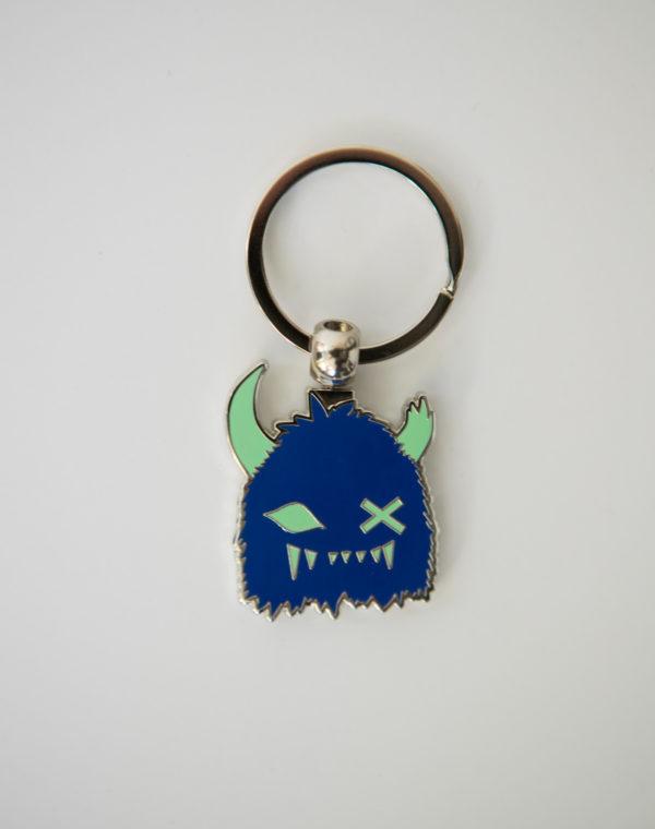 Blue Snaggy Keychain