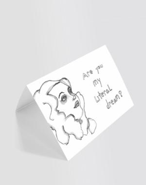 Literal Dream Greeting Card