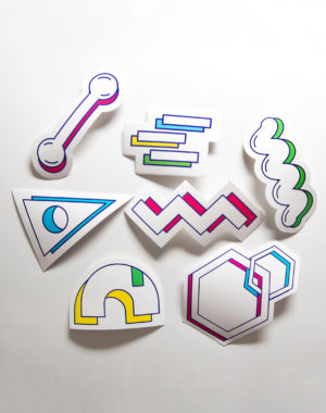 Shop Shapes Sticker Pack