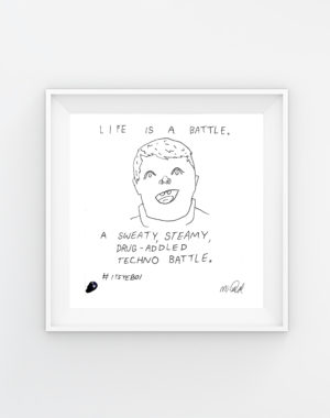 Life is a battle_Mikey Rae - Legit Concerns _Meow_Wolf_Original_Artwork