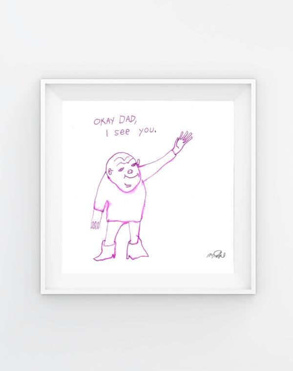 Okay_Dad_Mikey Rae - Legit Concerns _Meow_Wolf_Original_Artwork