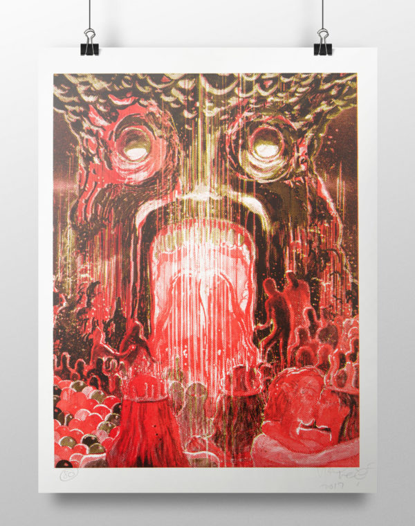 *Limited Edition* King's Mouth Print Signed by Wayne Coyne