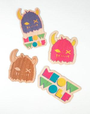 Eco-Friendly Wood Stickers
