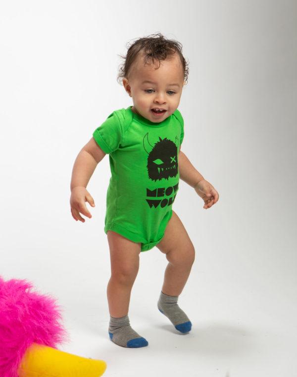 Meow Wolf Baby Bodysuit - Green - Onesie