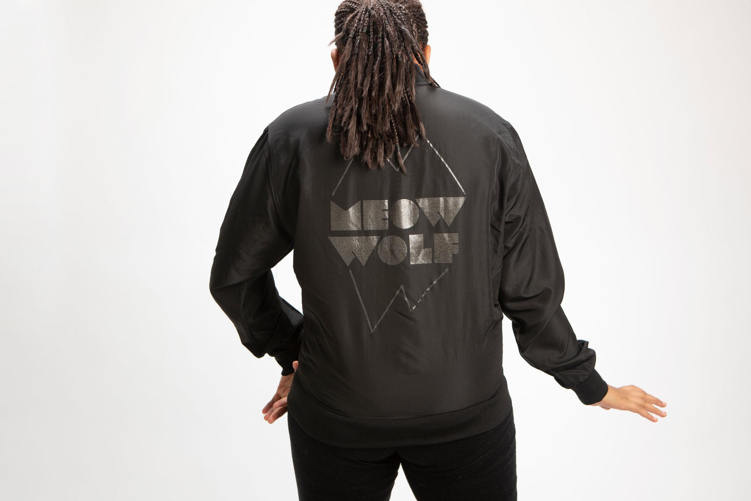 The Meow Wolf windbreaker jacket