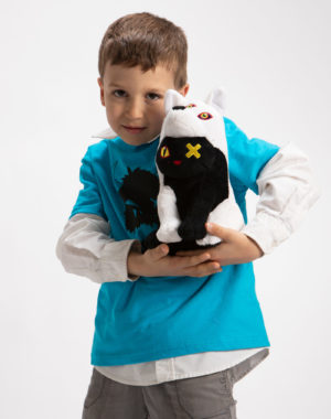 Meow Wolf Snaggy Kids Shirt - Turquoise - Meow Wolf Plush