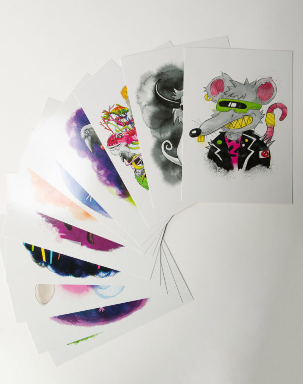 Creatures Postcards Set