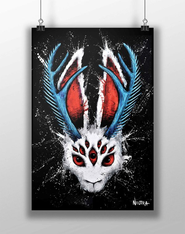 Nine Eyes Mini Art Print