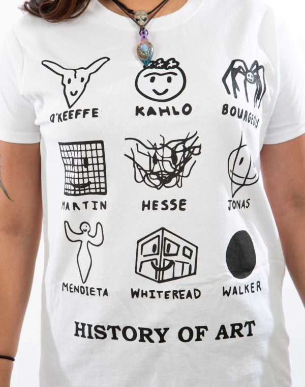 History of Art T-Shirt - Black - Charlotte Thurman