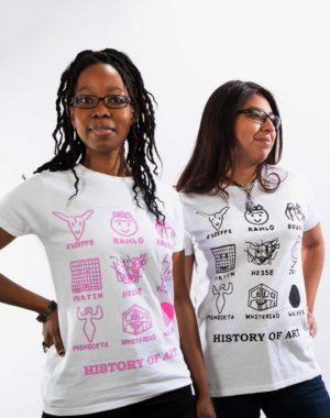 History of Art T-Shirt - Black Pink - Charlotte Thurman
