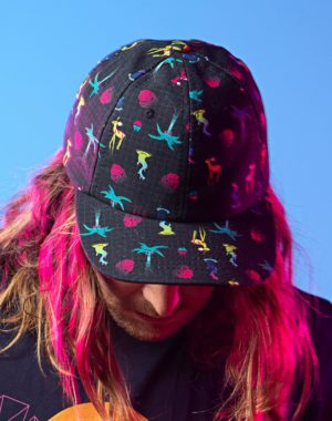 KLS_Sunset_All_Over_Hat_Front_Meow_Wolf_2