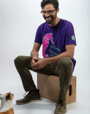 Floating Seahorse T-Shirt - Legit Concerns - Meow Wolf