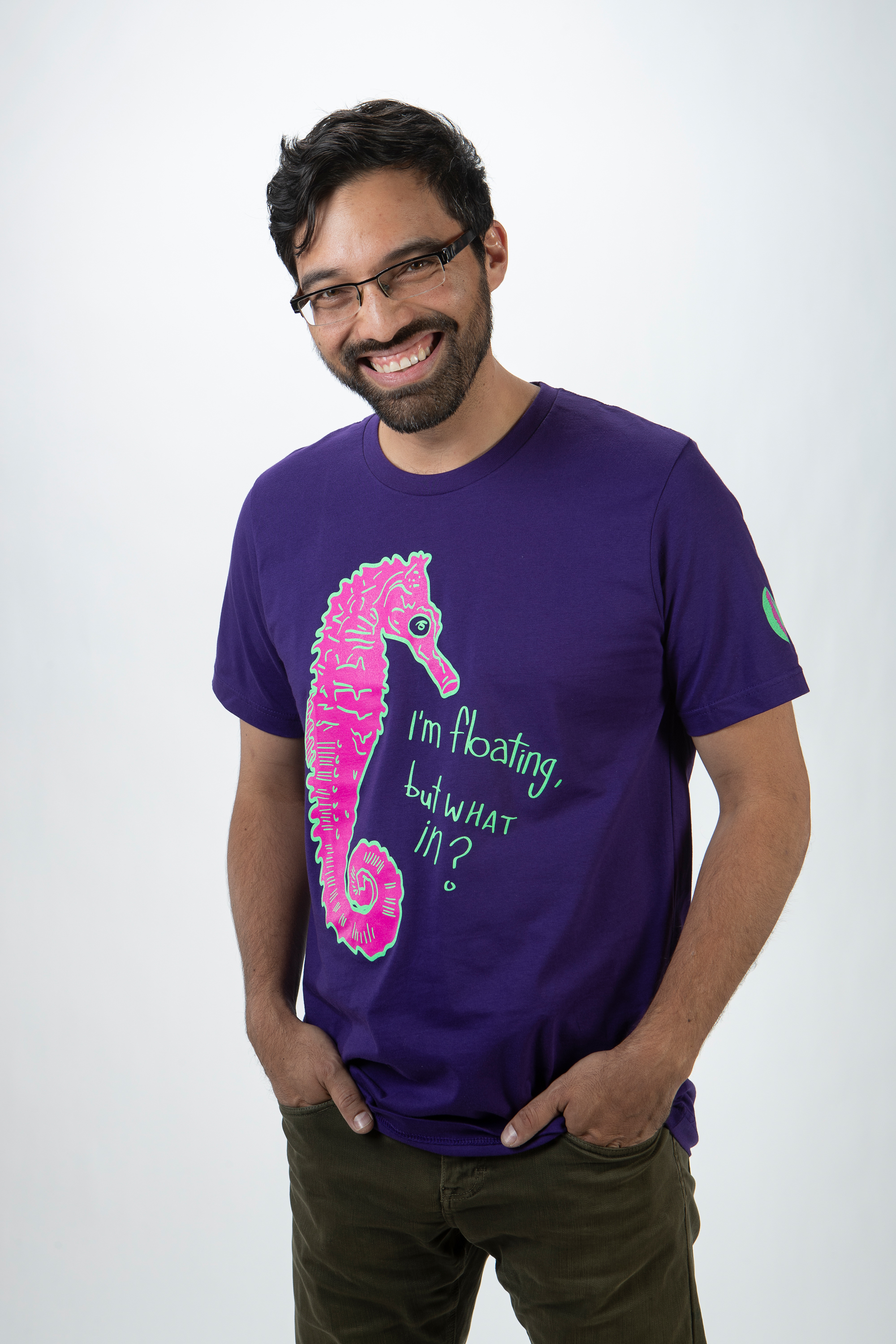 Floating Seahorse T-Shirt – Legit Concerns – Meow Wolf
