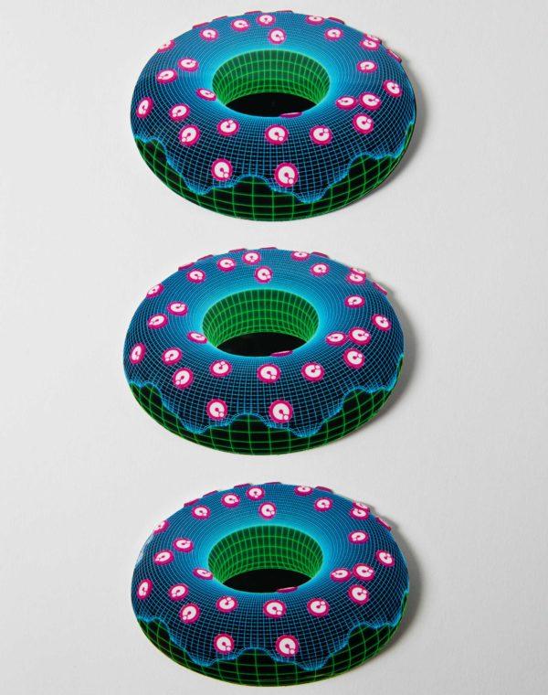 Kaleidoscape Donut Sticker