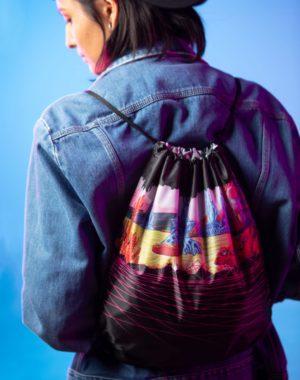 Gridscape Cinch Bag