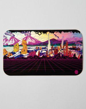 Holographic Gridscape Sticker