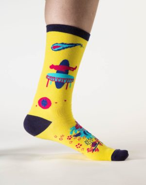 Lost_Sock_Yellow_Wallpaper_Meow_Wolf_2