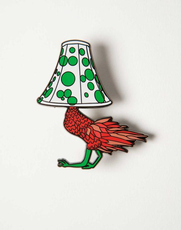 Kaleidoscape Chicken Lamp Pin