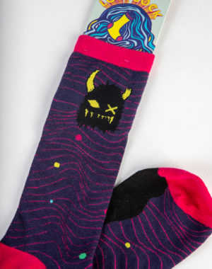 Meow Wolf Lost Socks - Snaggy Black/Yellow