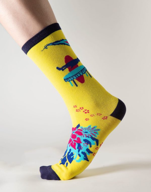 Lost_Sock_Yellow_Wallpaper_Meow_Wolf_3