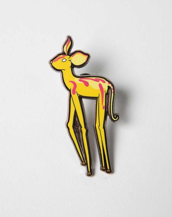 Kaleidoscape Deer Pin