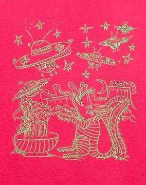 Hand-Dyed UFO Dog T-Shirt