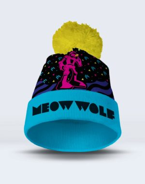 Robot Holiday Beanie Mockup Meow Wolf