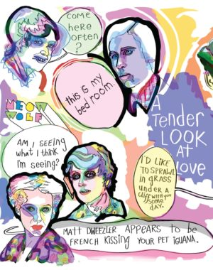 A Tender Look At Love Postcard