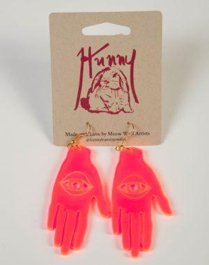 Laser Cut Palm Earrings
