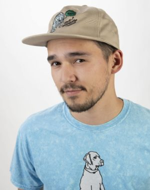 Silent Contemplations Beach Cap -Dog Shark Shirt- Legit Concerns - Meow Wolf