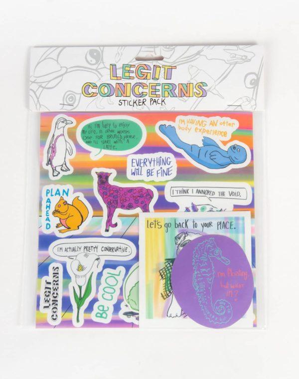Legit Concerns - Sticker Pack - Meow Wolf