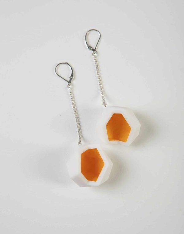 Julia Strauss - 3D printed earrings - Meow Wolf