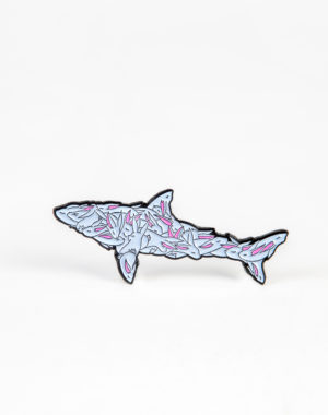 Max Neutra - Power in Numbers Pin - Bunny Shark