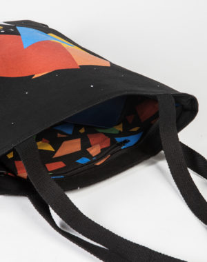 Obsidiopolis - Faceted Tote Bag - Meow Wolf