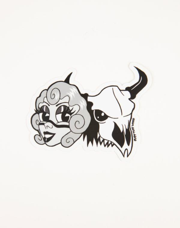 Muna and Bones Sticker - Dylan Pommer - Rust This World