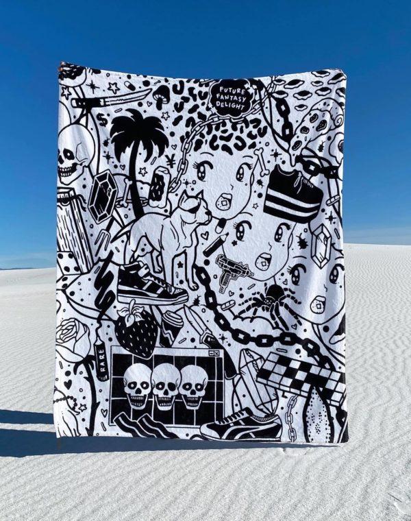 FFD Fleece Blanket - Future Fantasy Delight - Meow Wolf