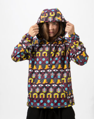 Packable Windbreaker Jacket - Meow Wolf