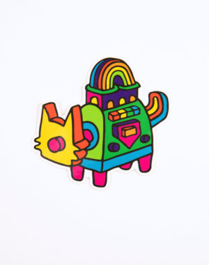 Luke_Dorman_Psychic_Fails_Rainbow_Cat_Sticker_Meow_Wolf