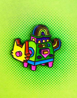 Psychic_Fails_Luke_Dorman_Rainbow_Cat_Pin_Meow_Wolf